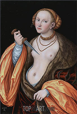 Lucretia, 1537 | Lucas Cranach| Painting Reproduction