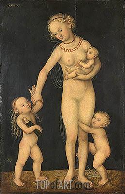 Charity, c.1537/50 | Lucas Cranach | Gemälde Reproduktion