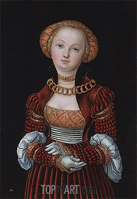 Portrait of a Woman, c.1525 | Lucas Cranach| Painting Reproduction