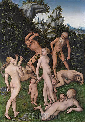 The Close of the Silver Age, c.1530 | Lucas Cranach| Painting Reproduction