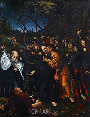 Christ's Arrest, 1538 | Lucas Cranach | Painting Reproduction