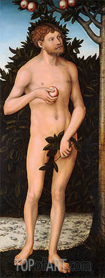 Adam, c.1537 | Lucas Cranach | Painting Reproduction