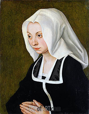 Portrait of a Woman, c.1508 | Lucas Cranach | Gemälde Reproduktion