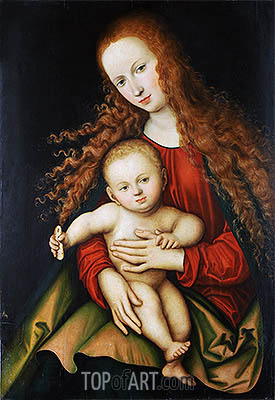 The Virgin and Child, 1529 | Lucas Cranach | Gemälde Reproduktion