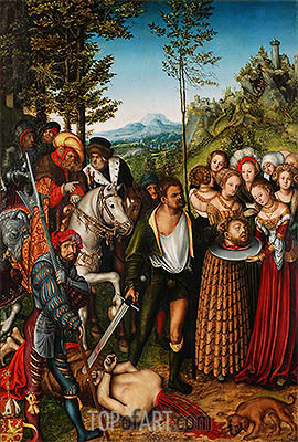 The Beheading of St John the Baptist, 1515 | Lucas Cranach| Gemälde Reproduktion