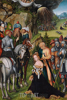The Beheading of St Catherine, c.1515 | Lucas Cranach | Painting Reproduction