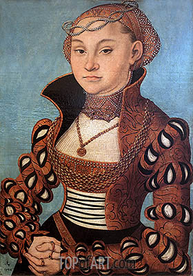 Portrait of a Saxon Lady, 1534 | Lucas Cranach | Painting Reproduction