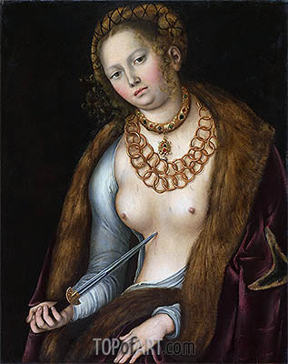 Lucretia, c.1510/13 | Lucas Cranach | Gemälde Reproduktion