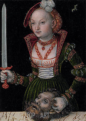 Judith and Holofernes, undated | Lucas Cranach | Painting Reproduction