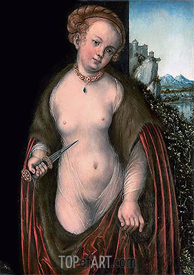Lucretia, undated | Lucas Cranach| Painting Reproduction