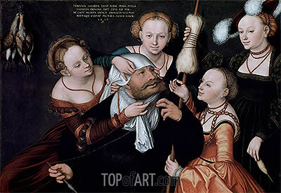 Hercules and Omphale, 1537 | Lucas Cranach | Painting Reproduction
