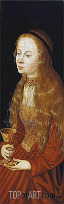 St Barbara, undated | Lucas Cranach| Painting Reproduction
