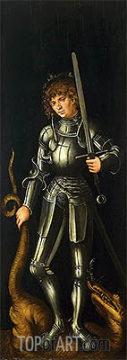Saint George, c.1514 | Lucas Cranach| Painting Reproduction