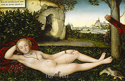The Nymph of the Spring, 1537 | Lucas Cranach | Gemälde Reproduktion