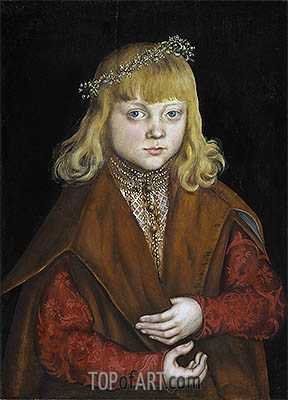 A Prince of Saxony, c.1517 | Lucas Cranach | Painting Reproduction