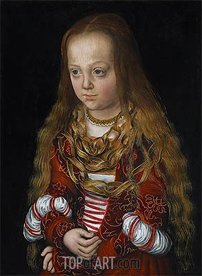 A Princess of Saxony, c.1517 | Lucas Cranach| Painting Reproduction