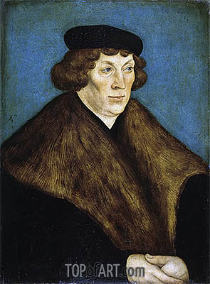 Lucas Cranach | Portrait of Count Palatine Philipp of the Rhein, Bishop of Naumburg and Bishop of Freising, 1528