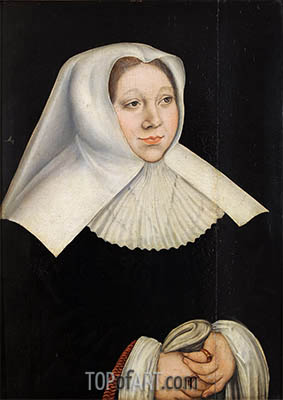 Portrait of Margaretha of Savoy, Governor of the Netherlands, c.1530 | Lucas Cranach| Painting Reproduction