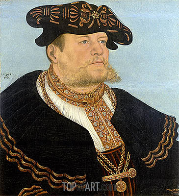 Portrait of the Chancellor Gregor Bruck, 1533 | Lucas Cranach | Painting Reproduction