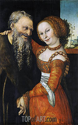 An Ill-Matched Pair, c.1530 | Lucas Cranach | Painting Reproduction