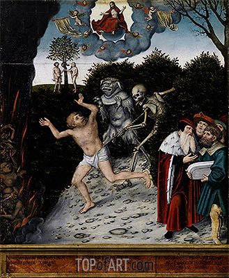 Allegory of Law and Mercy, a.1529 | Lucas Cranach| Painting Reproduction