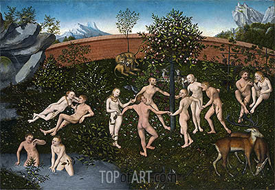 The Golden Age, c.1530 | Lucas Cranach| Painting Reproduction