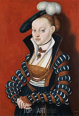 Portrait of Christiane of Eulenau, 1534 | Lucas Cranach | Gemälde Reproduktion
