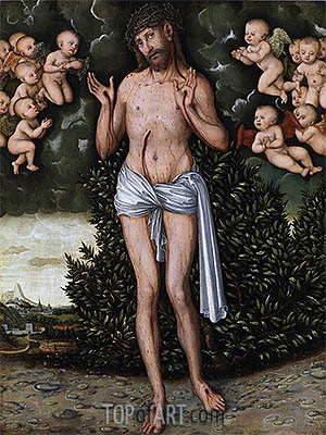 Christ as the Man of Sorrows, a.1537 | Lucas Cranach | Painting Reproduction