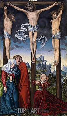 Christ Crucified between the Two Thieves, c.1515/20 | Lucas Cranach | Painting Reproduction