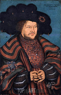 Portrait of Joachim I Nestor, Elector of Brandenburg, 1529 | Lucas Cranach | Painting Reproduction