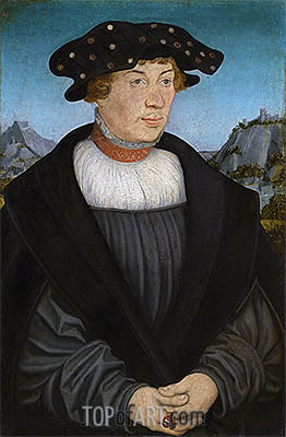 Portrait of Hans Melber, 1526 | Lucas Cranach| Painting Reproduction