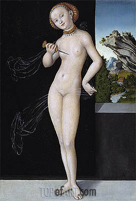 Lucretia, 1528 | Lucas Cranach | Painting Reproduction