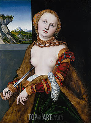 Lucretia, 1530 | Lucas Cranach| Painting Reproduction