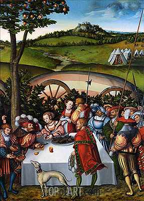 Judith Dining with Holofernes, 1531 | Lucas Cranach | Painting Reproduction