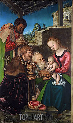 The Adoration of the Magi, c.1513/16 | Lucas Cranach| Painting Reproduction