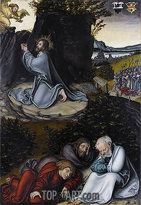 Agony in the Garden, c.1540 | Lucas Cranach| Painting Reproduction