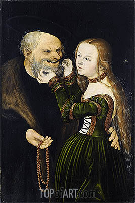 An Ill-Matched Pair, c.1530 | Lucas Cranach| Painting Reproduction