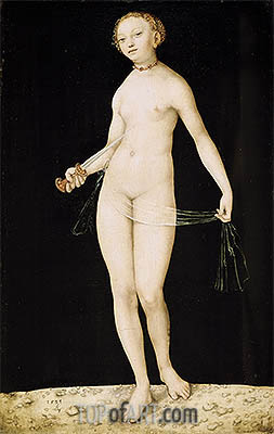 Lucretia, 1533 | Lucas Cranach| Painting Reproduction