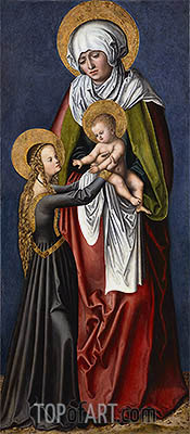 The Virgin and Child with St Anne, c.1515 | Lucas Cranach| Painting Reproduction