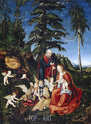 Rest on the Flight into Egypt, 1504 | Lucas Cranach| Gemälde Reproduktion