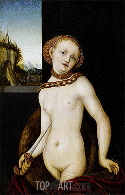 Lucretia, 1530 | Lucas Cranach | Painting Reproduction