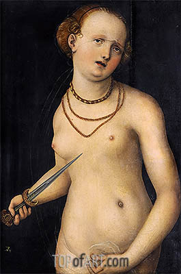 The Suicide of Lucretia, a.1537 | Lucas Cranach| Painting Reproduction