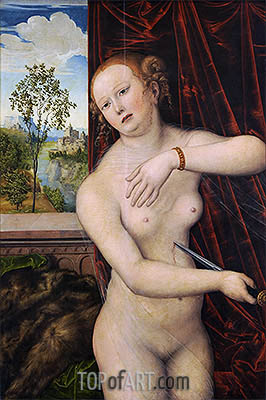 The Suicide of Lucretia, c.1518 | Lucas Cranach | Painting Reproduction