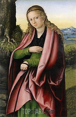 St Margaret, c.1513/14 | Lucas Cranach| Painting Reproduction