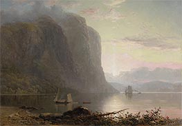 Sunrise on the Saguenay, Cape Trinity, 1880 by Lucius R. O'Brien | Painting Reproduction