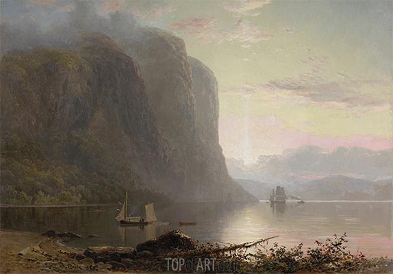 Sunrise on the Saguenay, Cape Trinity, 1880 | Lucius R. O'Brien | Painting Reproduction