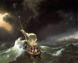 Christ in the Storm on the Sea of Galilee, 1695 by Bakhuysen | Painting Reproduction