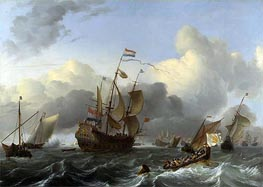 The 'Eendracht' and a Fleet of Dutch Men-of-war | Bakhuysen | outdated