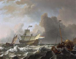 Ships in a Storm off Enkhuizen | Bakhuysen | outdated