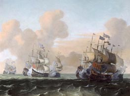 Battle at Sea between Hollanders and Pirates | Bakhuysen | outdated
